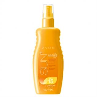 Avon SUN+ Vlažilni zaščitni spray za občutljivo kožo F15
